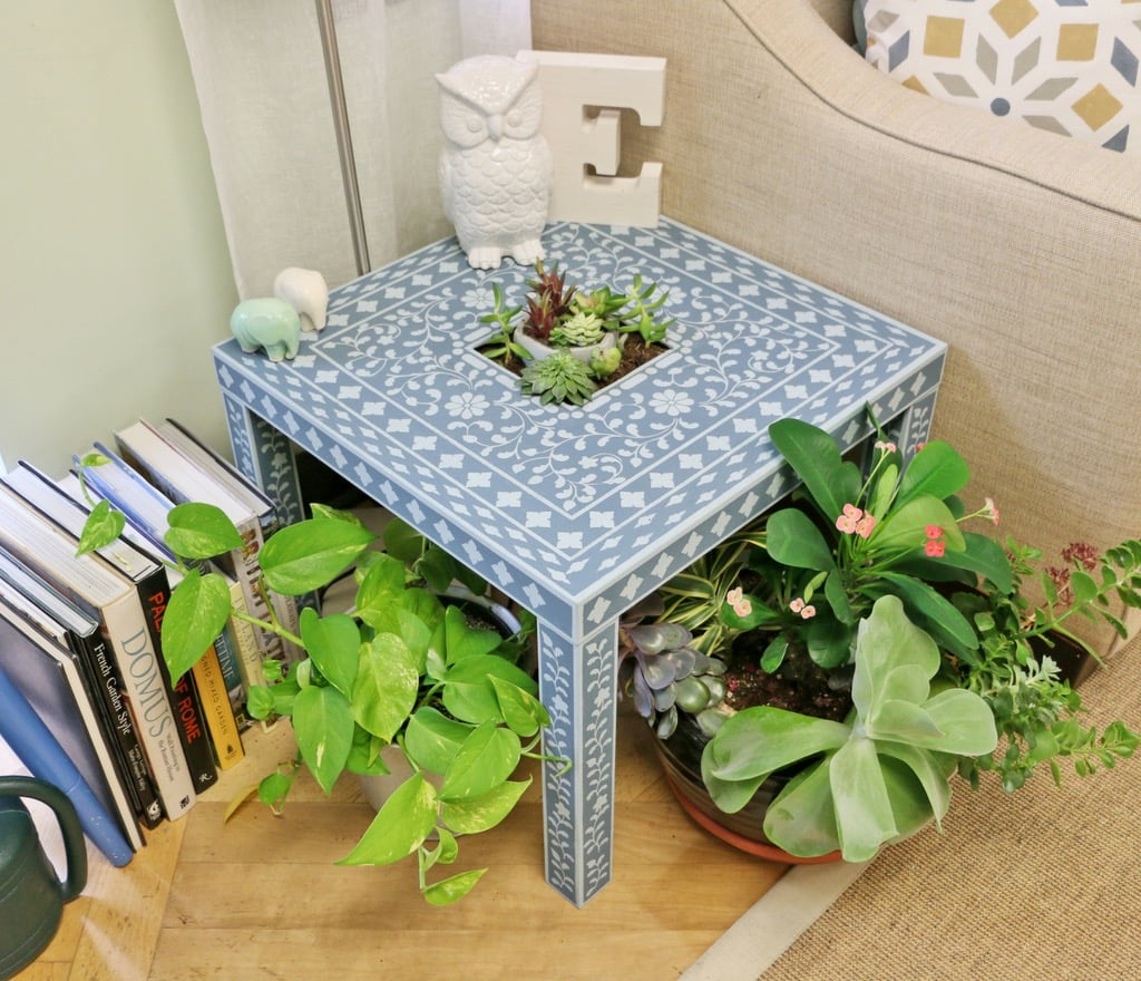 stencilled LACK side table