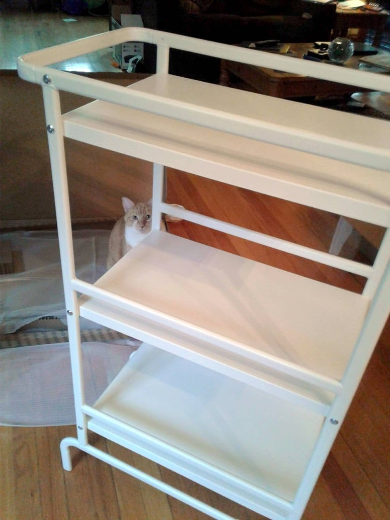 Sunnersta Cart Becomes Craft Cart Sewing Tool Station