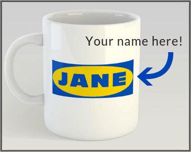 IKEA Mug with your name