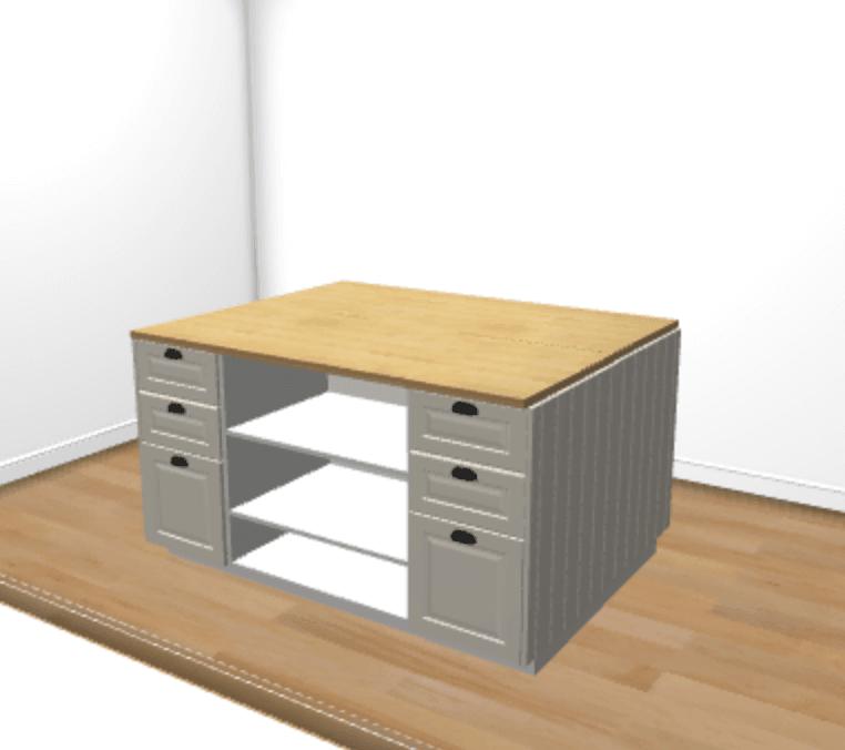 kitchen island plan
