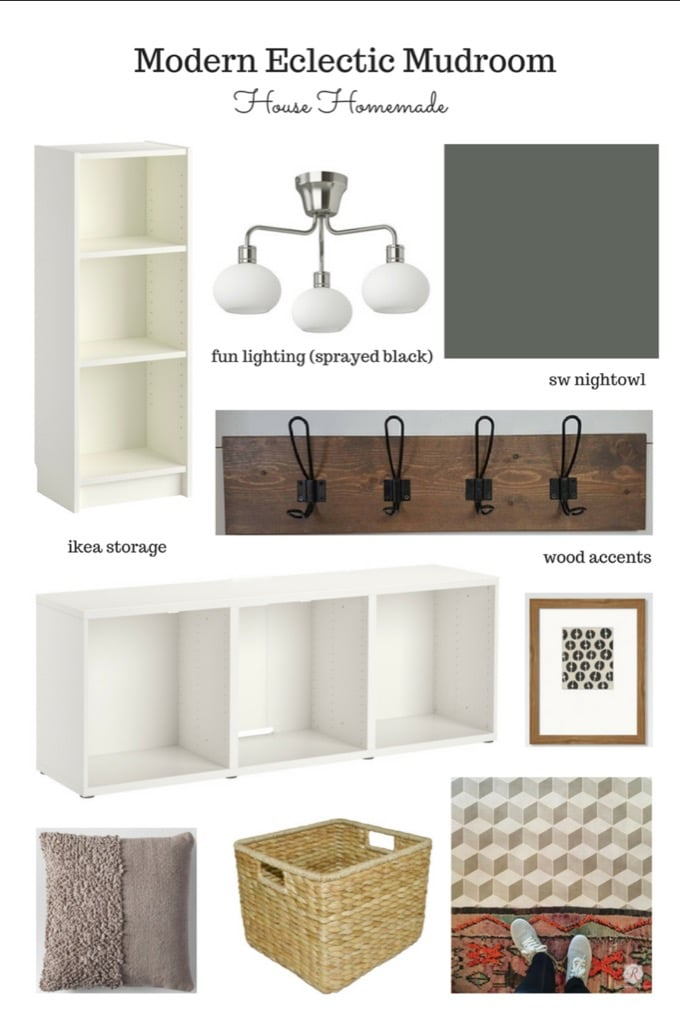 Mudroom furniture from 5 IKEA pieces