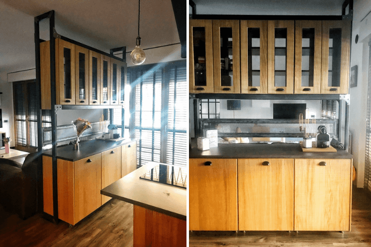 Amazing Open Kitchen With Cabinets As Space Divider Ikea