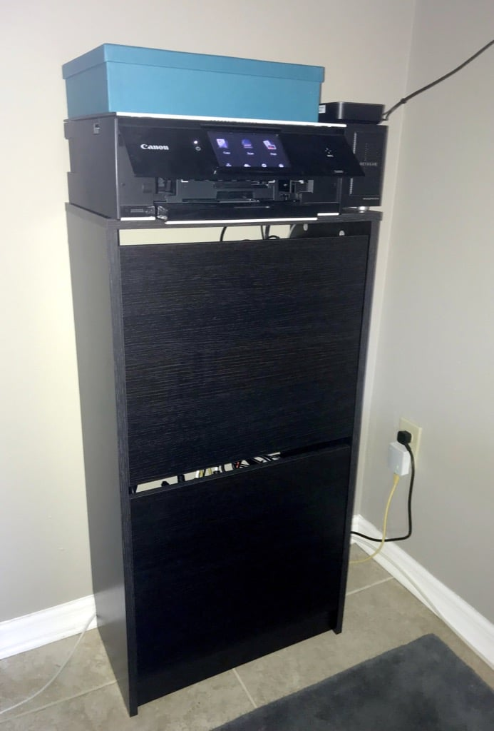 IKEA BISSA IT home network cabinet