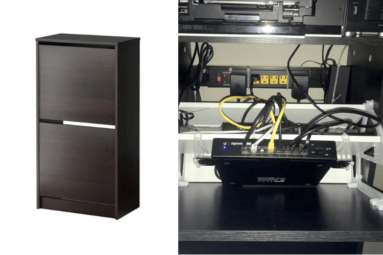 Make A Discreet Network Cabinet Ikea Hackers