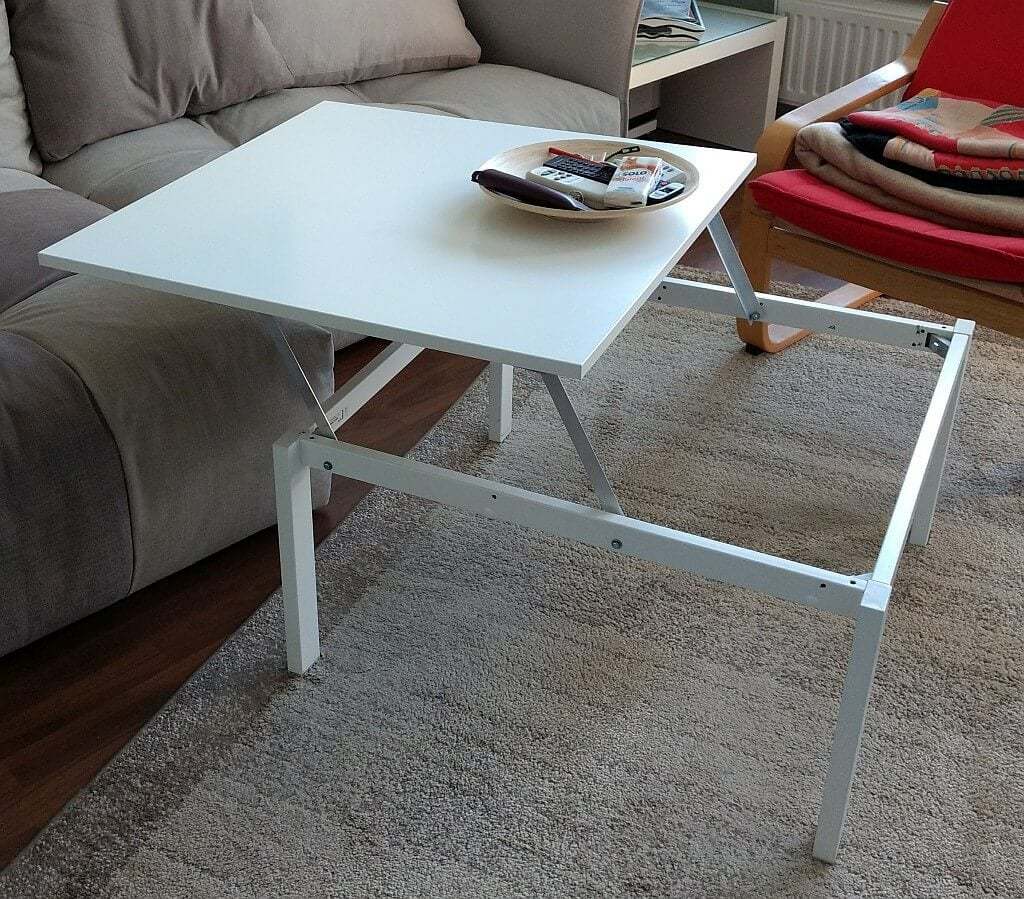 Lift top coffee table IKEA MELLTORP Hack