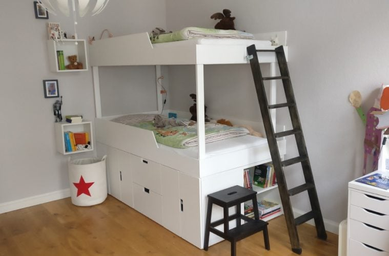 mydal children's bunk bed with storage
