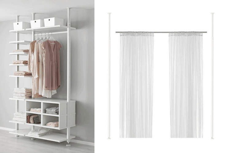 Hackers help how to use elvarli posts for a room divider for Elvarli ikea hack