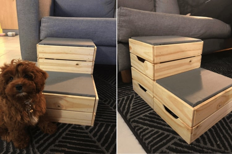 10 best IKEA hacks of 2018 - Courtney's DIY dog steps