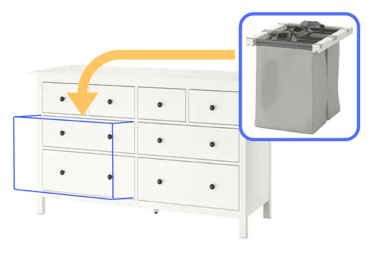 Make Ikea Dresser Into Laundry Hamper