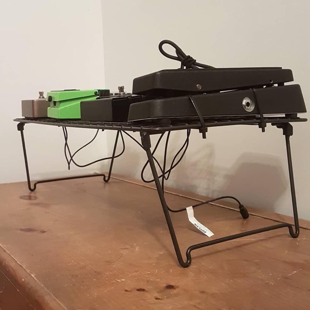$20 DIY Guitar Pedalboard made from IKEA shoe rack