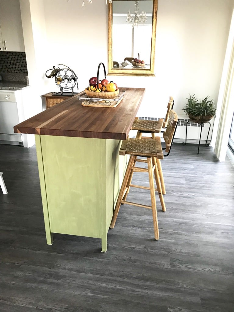Rustic Kitchen Island IKEA hack
