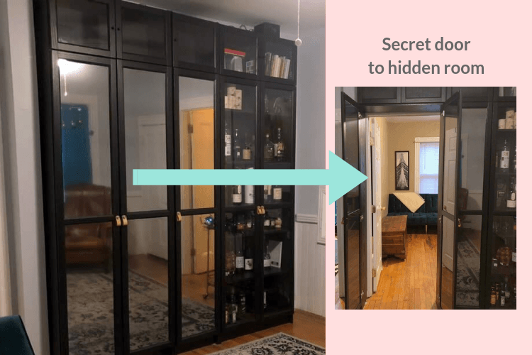 secret door to hidden room ikea billy hack