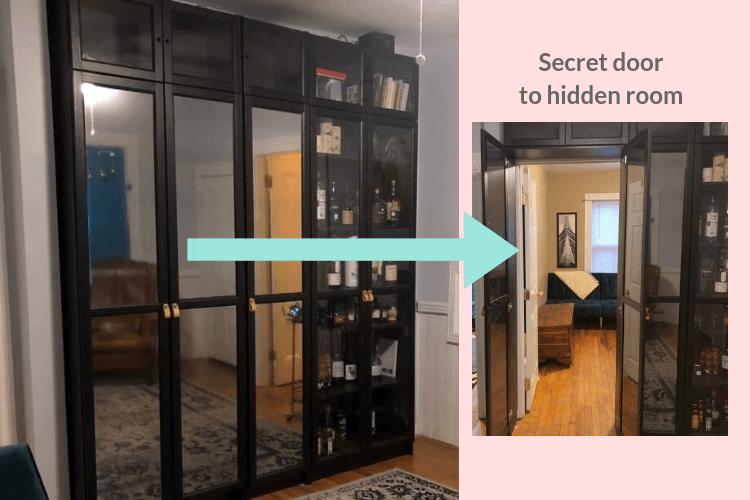 Billy bookcase secret door