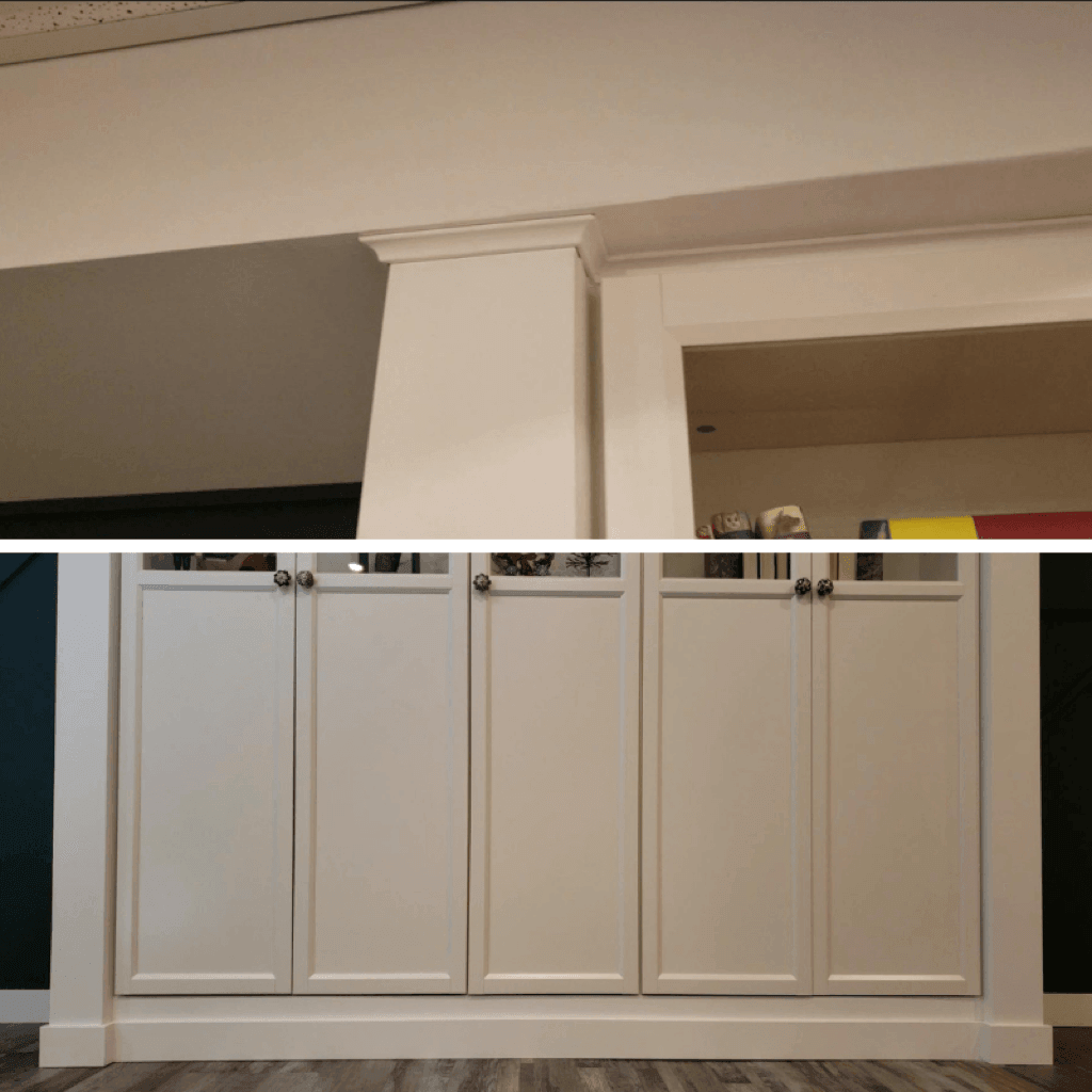DIY built-in BILLY bookshelves