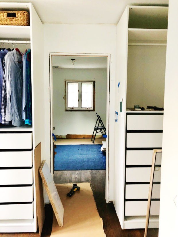 Jaw-dropping transformation of IKEA PAX into a walk-in closet