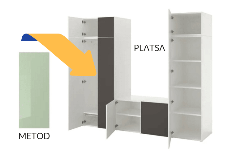 hackers help metod doors for ikea platsa frame ikea hackers. Black Bedroom Furniture Sets. Home Design Ideas