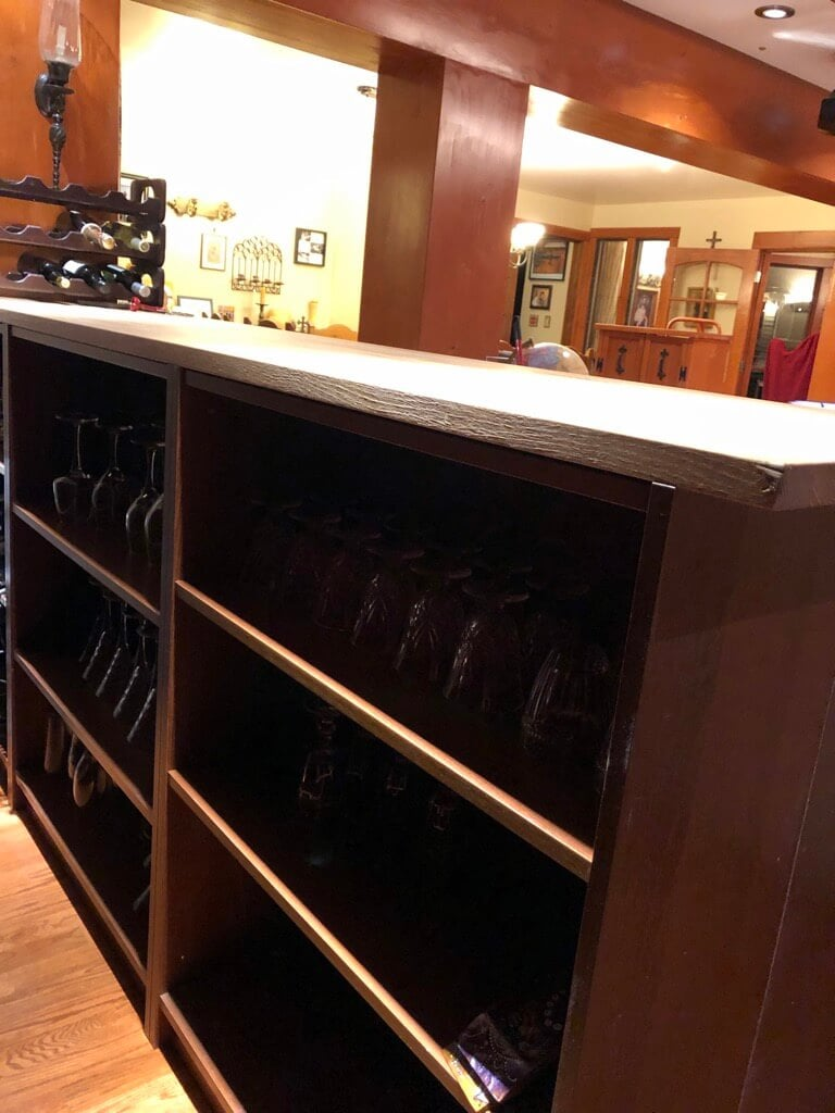 Built In Home Bar Cabinet With Ikea Billy Ikea Hackers