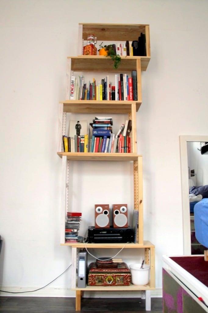 box shelves IKEA IVAR hack