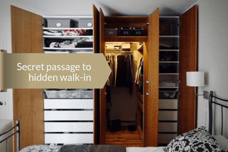 cherry wood closet secret walk in
