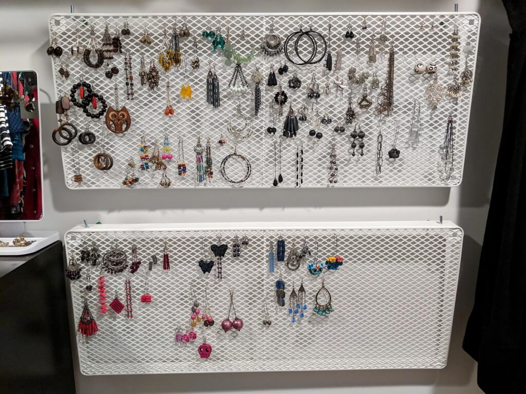 IKEA MACKAPR earring holders for a giant earring collection