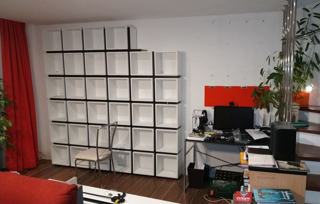 IKEA Cube Bookcase out of EKET shelves