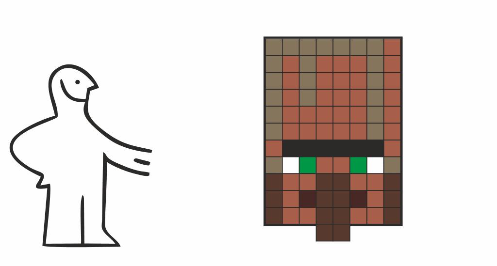 DIY Minecraft villager costume