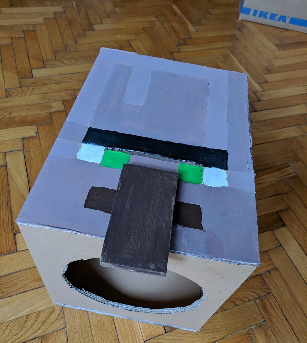 DIY Minecraft villager costume