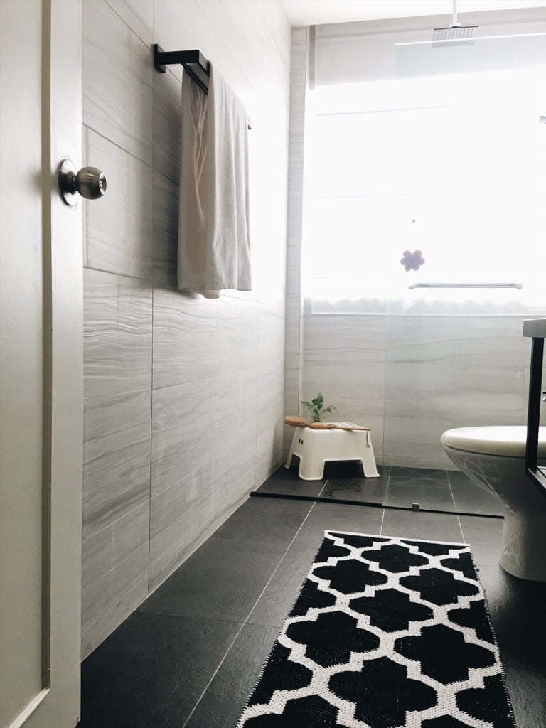 Master Bathroom remodel: with Feruni engineered marble tiles