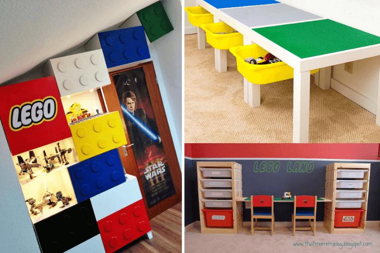LEGO storage ideas ikea hacks
