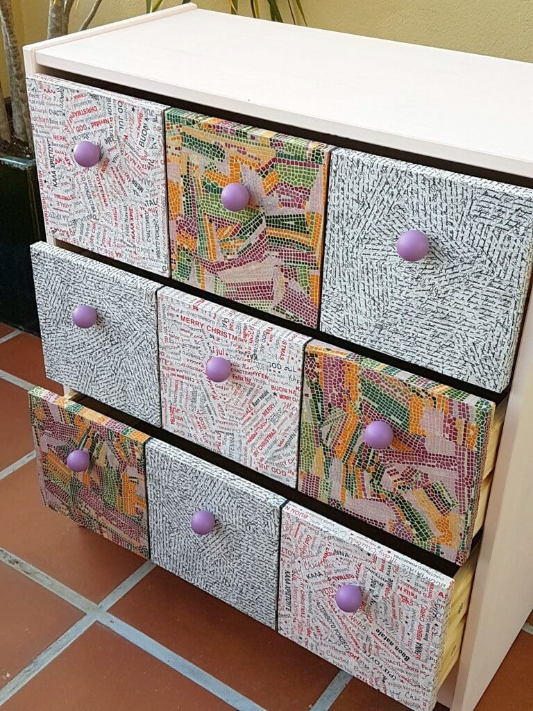 DIY faux apothecary drawers for girl's room