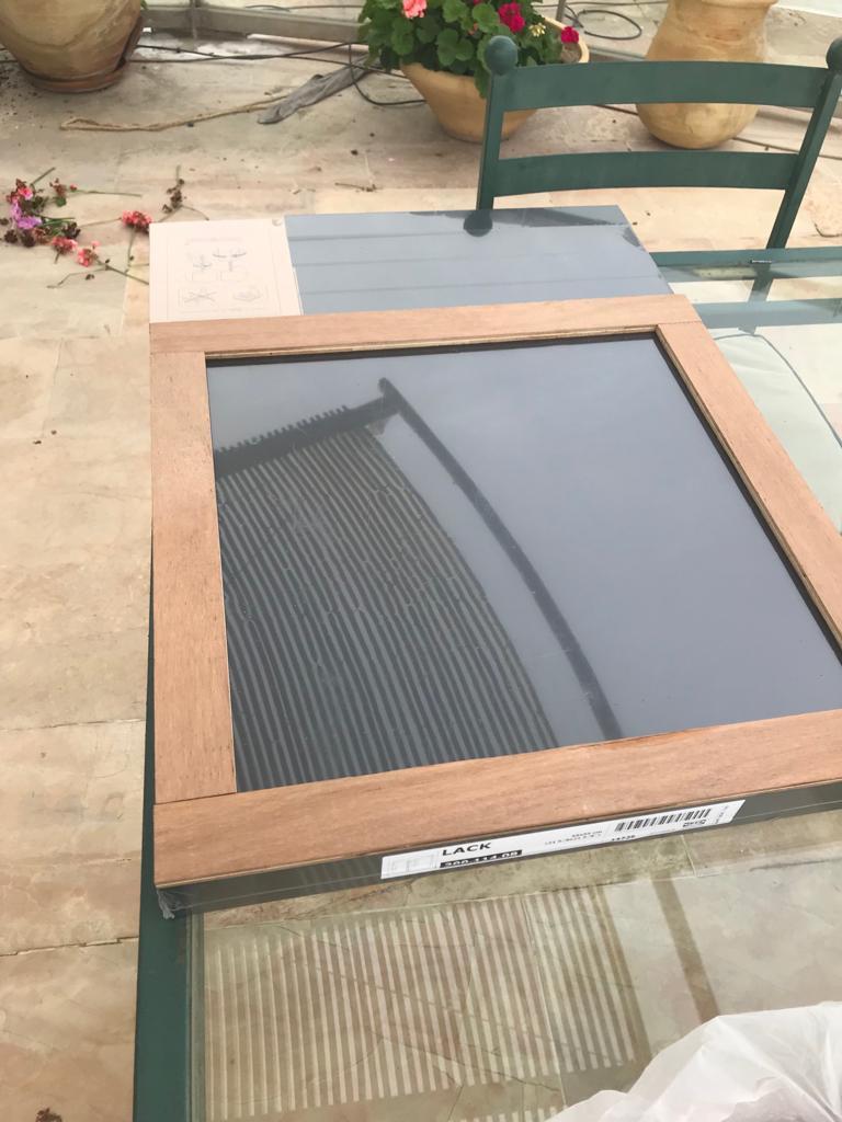 Tile coffee table ikea hack