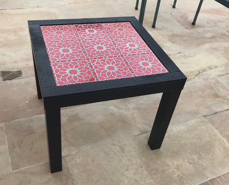 Tile coffee table ikea hack