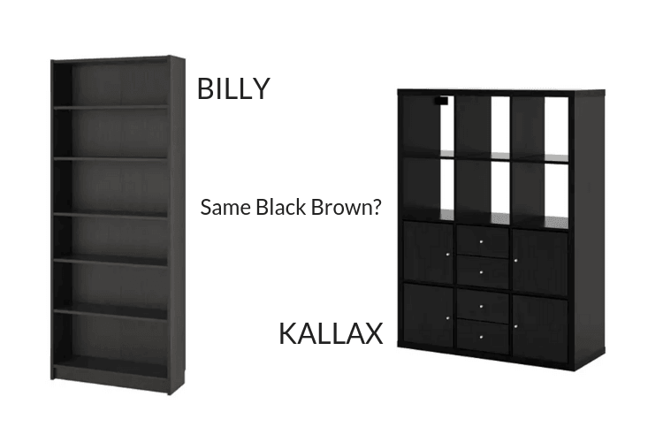 Hackers Help Question On Billy And Kallax Black Brown