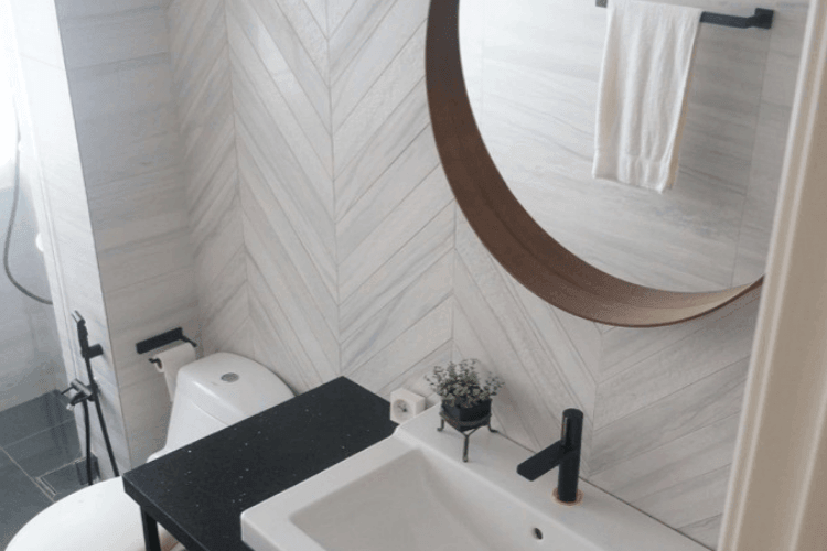 Master Bathroom Remodel It Turned Out Marblellous Ikea Hackers