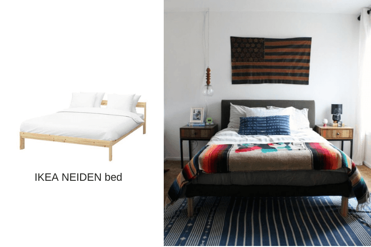 upholstered bed frame ikea neiden hack