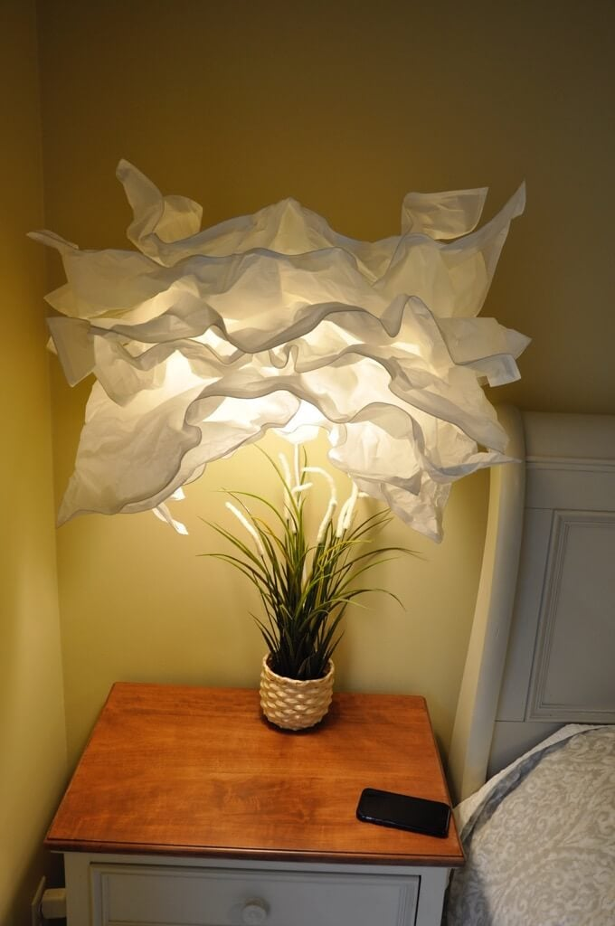 Hanging wall lamp from whimsy paper pendant light