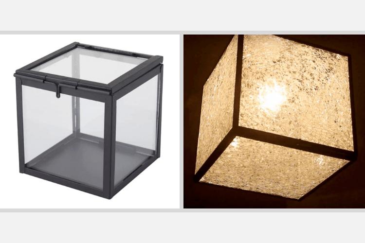broken glass effect lamp ikea hack
