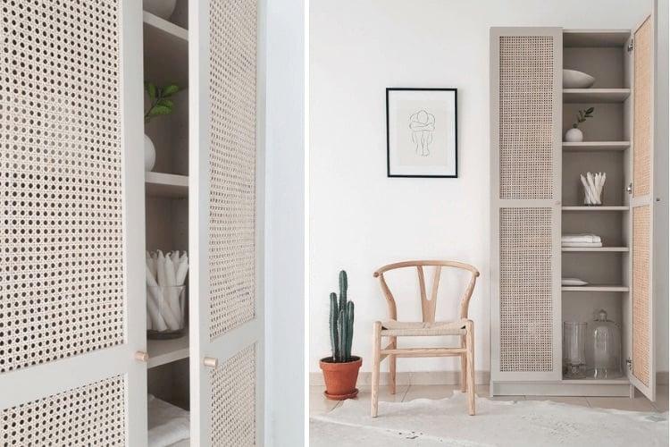 cane furniture BILLY bookcase