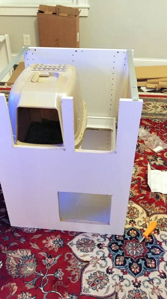 cat litter box furniture IKEA hack DIY