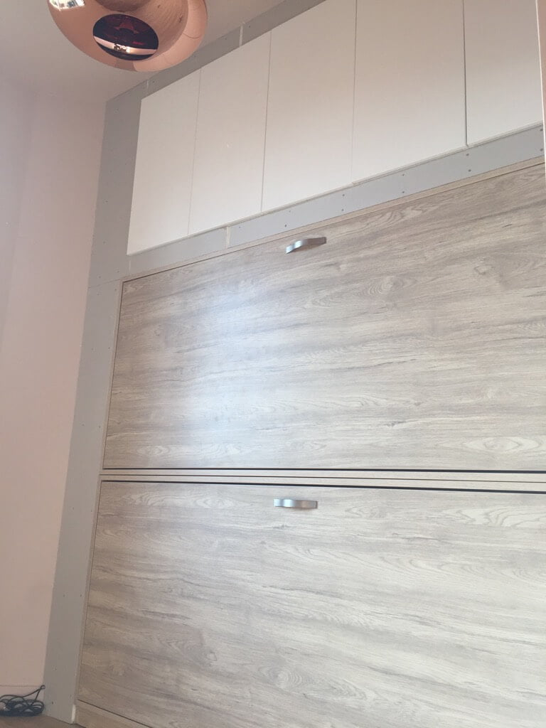 How to use kitchen cabinets for small bedroom storage