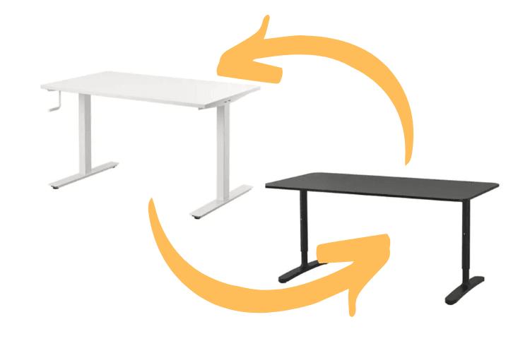 bekant desk skarsta frame