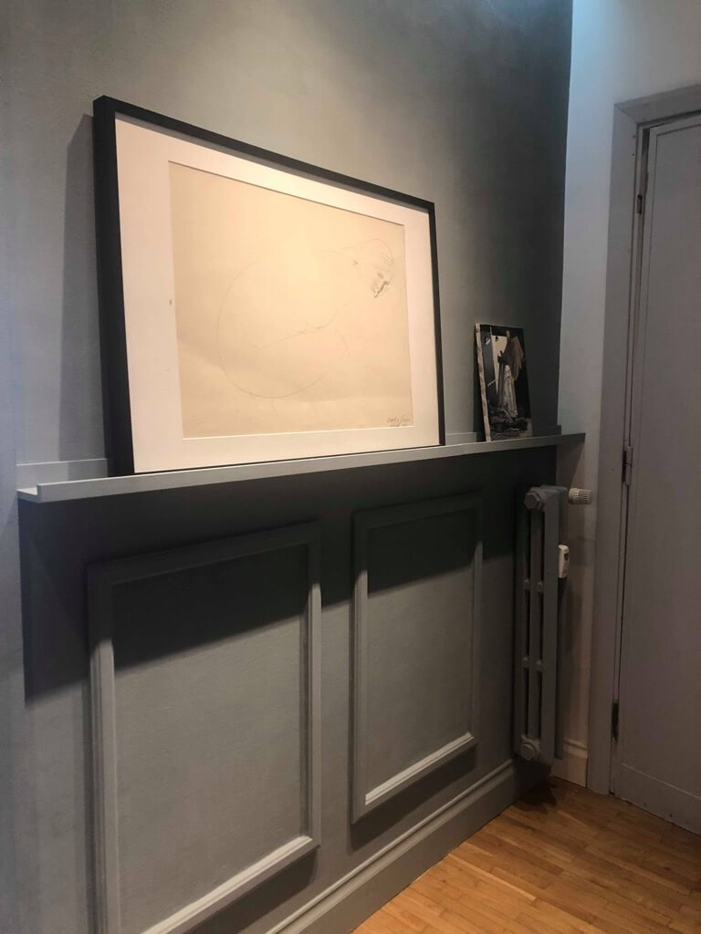 DIY picture frame wainscoting - IKEA hack