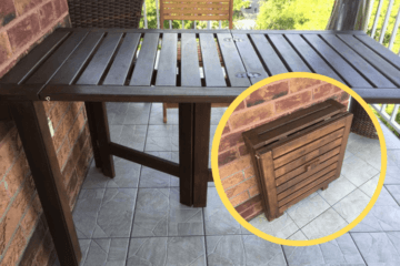 folding outdoor table ikea hack