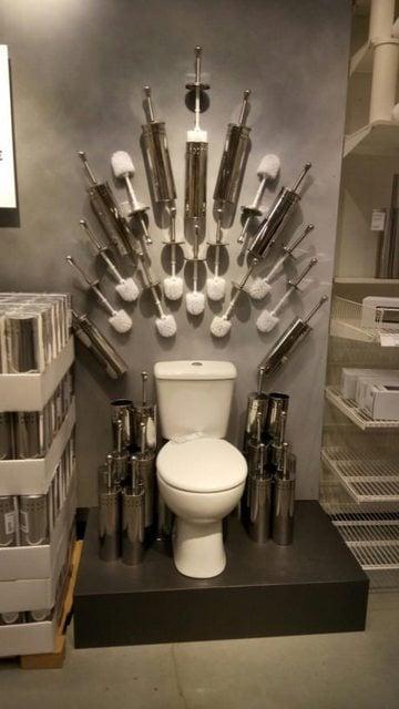 Iron Throne IKEA toilet accessories display