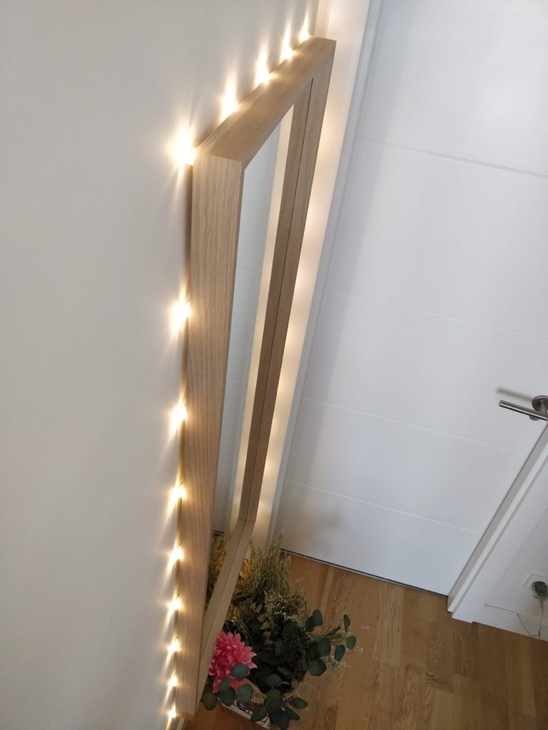 Making a lighted mirror with IKEA NISSEDAL