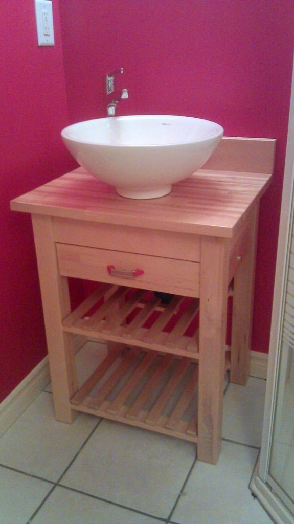 Funky Washstand With Drawer From Ikea Cart Ikea Hackers