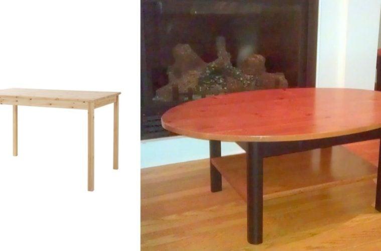 elliptical coffee table ikea ingo hack