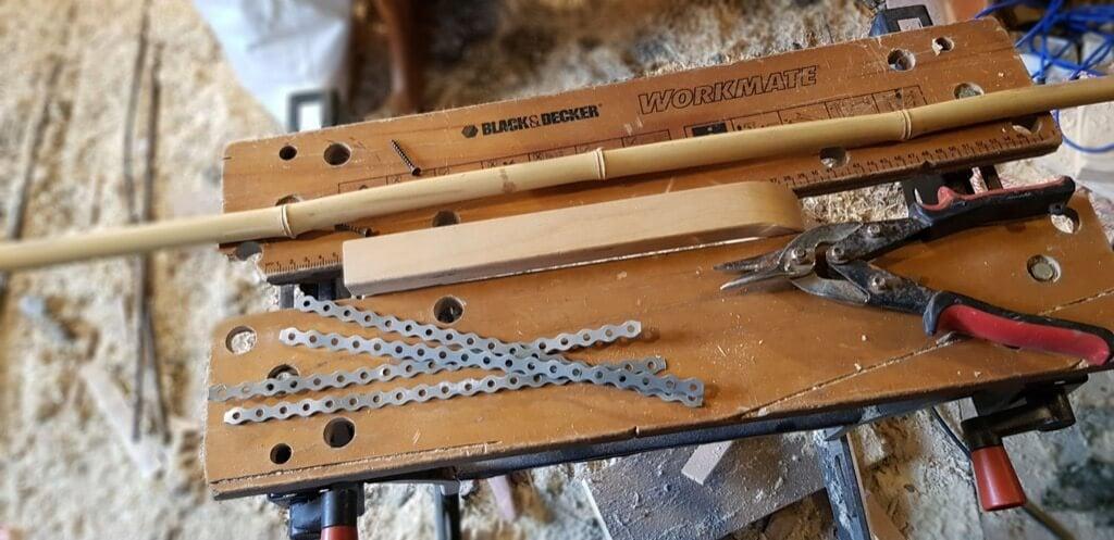 DIY garden obelisk - materials