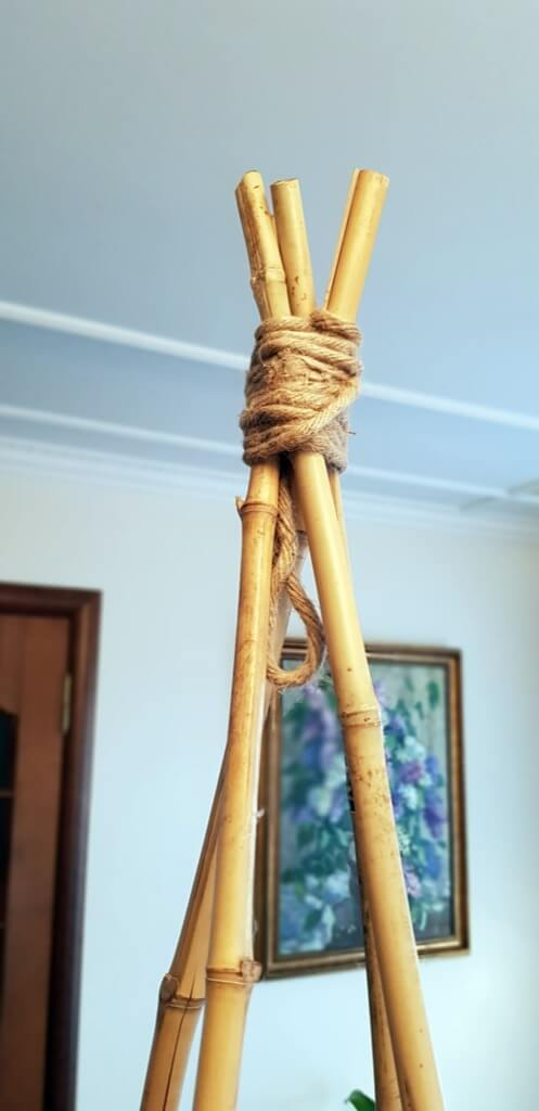 tie with jute rope