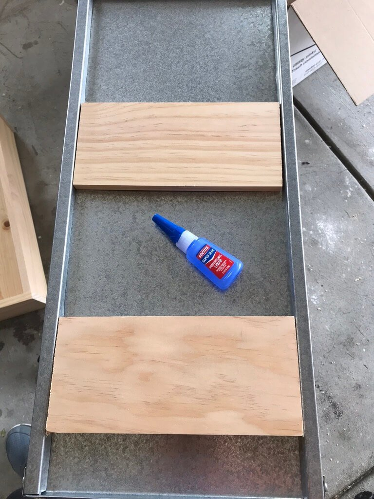 Add wood for casters